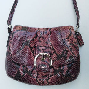 Coach Soho Embossed Exotic Flap Crossbody F45648